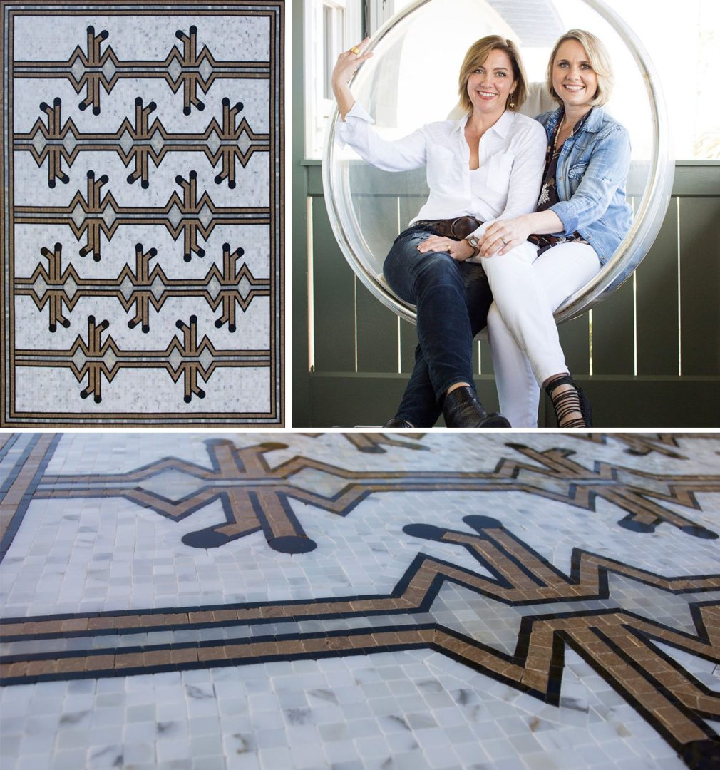 Custom mosaic by Ashley Waddell & Courtney Whatley. 3/8 x 3/8 and 1/8x3/8 hand-cut and hand-placed mosaic tesserae.