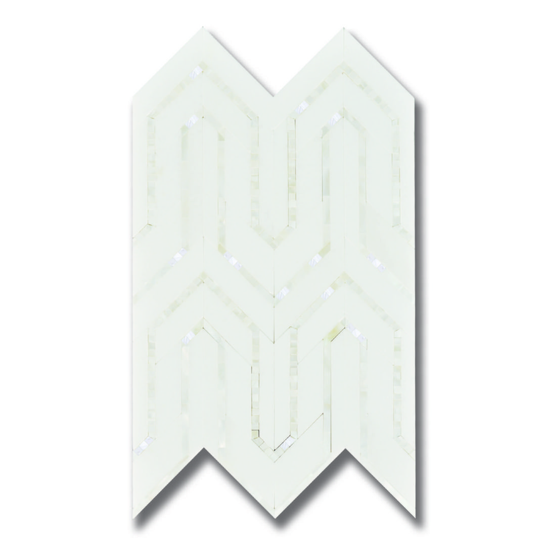 Allure Rug Thassos with Shell Microchips