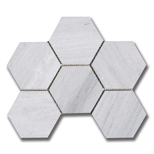 Ash Gray - Hexagon 3 7/8″ Ash Gray (H)