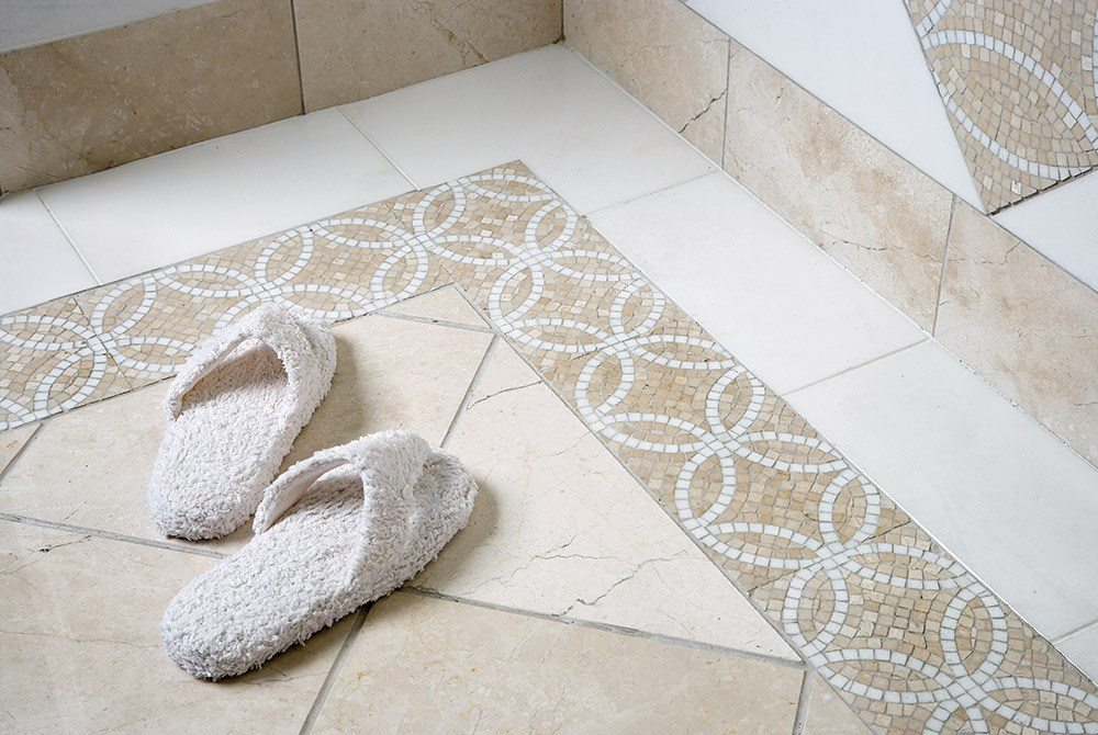 Mosaics As Borders Create Sophisticated Customized Looks