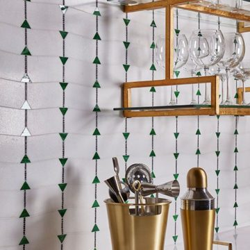 The Essence Collection by Young Huh Harmony mosaic with Emerald artglass