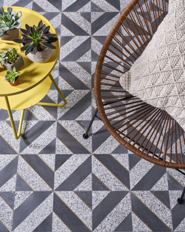 Next Diagonal Ombra H W Shadow Terrazzo Akdo Tile Dealers