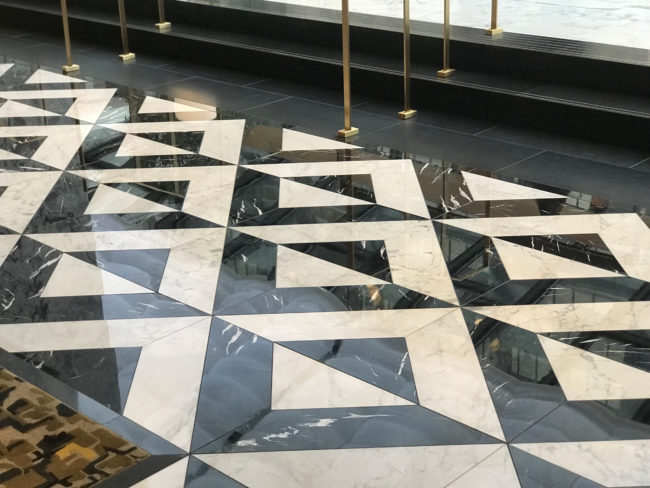 Black and White AKDOLAM Floor Tiles