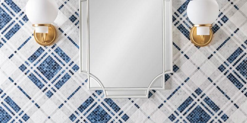 Balmoral-Plaid-Sapphire-G-Art-Glass-Carrara-H-Thassos-H-Install